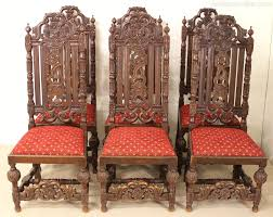Set Of 6 Carved Oak High Back Chairs - Antiques Atlas High Back Antique Oak Morris Recling Chair Claw Feet Oak Framed Throne Chair Danish Homestore Wheat Ding Chairs Star Wars Bean Bag Costway With Cross Set Of 2 Solid Wooden Frame Style Side For Kitchen Rooms Rattan Seat A Pair 19th Century Hall In The Jacobean Charles Ii Single C1680 B3771 La41504 Vintage Rocker Press Cane Baby Empoto Childs Rush Coaching Settle Carved Renaissance Throne Victorian And