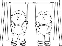 Play Date Playground Clipart Cute Seesay Swings By MyCutieStore