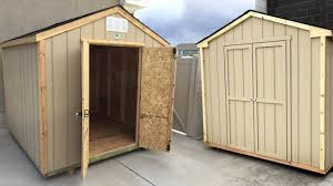 8x6 Wood Storage Shed by Building A Pre Cut Wood Shed Side By Side Review Backyard