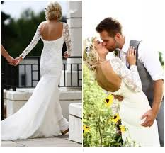 discount 2015 lace bohemian wedding dresses open back vintage