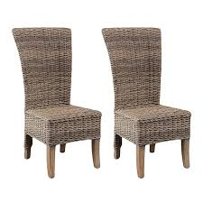 Greenface Outdoor Tall Rattan Dining Chair With Cushion (Set Of 2 ... Cantik Gray Wicker Ding Chair Pier 1 Rattan Chairs For Trendy People Darbylanefniturecom Harrington Outdoor Neptune Living From Breeze Fniture Uk Corliving Set Of 4 Walmartcom Orient Express 2 Loom Sand Rope Vintage Weng With Seats By Martin Visser For T Amazoncom Christopher Knight Home 295968 Clementine Maya Grey Wash With Cushion Simply Oak Practical And Beautiful Unique Cane Ding Chairs Garden Armchair Patio Metal