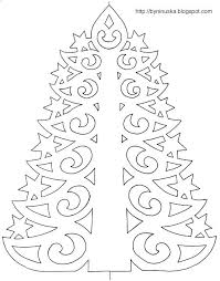 Paper Cutting Templates With Tree Cutout Template Cut Out Christmas Patterns