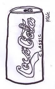 Coca Cola clipart black and white 5