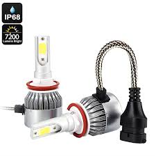 h8 h9 h11 car led headlight bulbs with cooling fan 7200 lumen