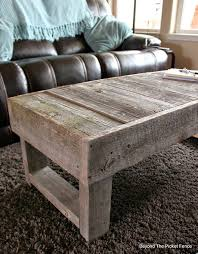 Beyond The Picket Fence: Barn Wood Coffee Table And