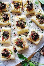 puff pastry canape ideas puff pastry canapes ideas blue cheese bacon and can d pecan puff
