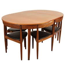 Hans Olsen Teak Dining Table With Extension And Six Chairs For Sale