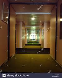 Architecture Corridor Hallway Hall Lights Long Walls Carpet Dark El Office Apartment Building Concept Perspective Depth