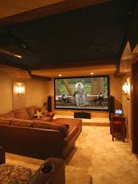 monochromatic brown palette color for home theater with