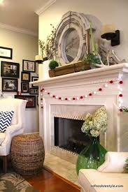 Decoration Spring Decor White Fireplace Mantel Designs With Fresh Flower Small Apartment Living Room Ideas