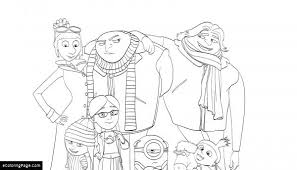 Despicable Me 3 Dru And Gru Family Coloing