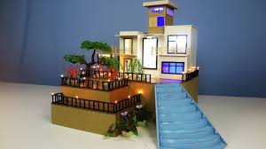 100 Dream House Architecture Making Mansion From Cardboard With LED Lights