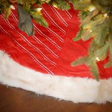 Buy Seasons Designs 56 Inch Red And White Striped Velvet Christmas Tree Skirt With Faux Fur Border In Cheap Price On Alibaba