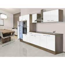 respekta küchenzeile ohne e geräte 360 cm weiß seidengl eiche york