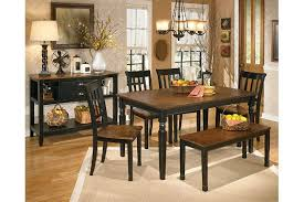 Owingsville Two Tone Casual Rectangular Dining Table Set With Bench