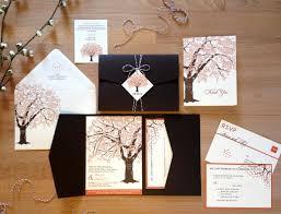 SAMPLE Fall Oak Tree Wedding Invitation Suite Pocketfold Tag