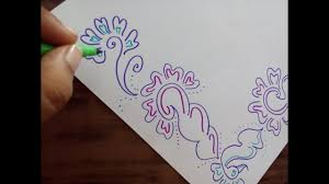 Drawing Of Designs For Chart Paper How To Decorate Border Of File