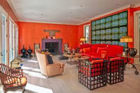 75 rote wohnzimmer mit oranger wandfarbe ideen bilder
