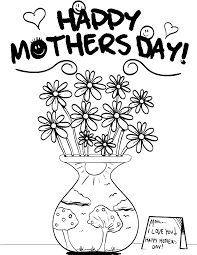 Happy Mothers Day Coloring Pages Printable