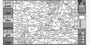 charmant jeu en ligne table de multiplication 14 coloriage