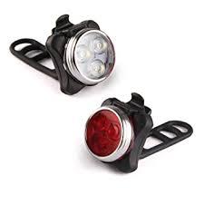 Amazon Ascher USB Rechargeable Bike Light Set Super Bright