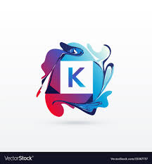 Abstract Letter K Logo Design Template Royalty Free Vector