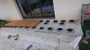 construire sa terrasse sur de la terre meuble notre maison