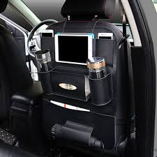 100 Truck Seat Organizer Black PU Leather Car Back Protector Cover Storage Holder