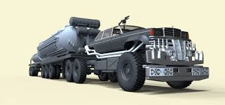 3D People Eater Fuel Truck From Movie Mad Max Fury Road