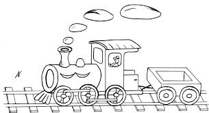 Train Locomotive 10 Transport Coloriages à Imprimer