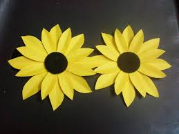 How To Make A Paper Flower Tutorial Sunflower Crafts