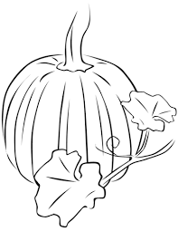 Click To See Printable Version Of Pumpkin With Leaves Coloring Page