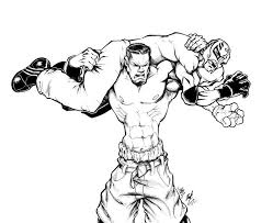 WWE Monster Wrestler Coloring Pages For Kids