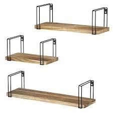 sriwatana rustikale schwimmende regale aus holz 3 stück wandregale für schlafzimmer wohnzimmer küche bad