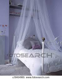 Mauve Bedroom by Stock Image Of Sheer White Voile Curtains Above White Wrought Iron