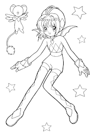 Anime Cartoon Coloring Pages 2