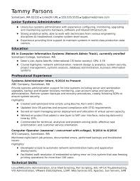 Sample Resume For An Entry Level Systems Administrator Monster Best Of Server Format Pictures