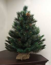 3 Royal Oregon Long Needle Pine Artificial Christmas Tree In Burlap Ideas Of Cashmere