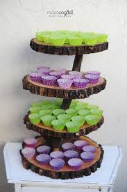 Items Similar To Rustic 4 Tiered Custom Wood Tree Slice Cupcake Stand For Wedding Or Party