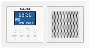 technisat digitradio up1 unterputz radio zur anbringung in jeder doppel unterputz dose weiß