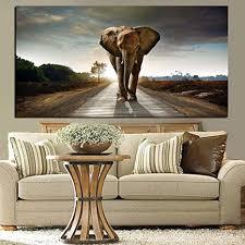 sqshbbc wilder afrika elefant tierlandschaftsmalerei plakate