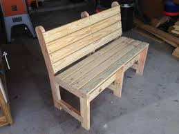 Outstanding Wood Bench With Back Treenovation Regard To Wooden