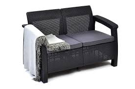 Amazon.com : Resin Love Seat With Cushions, All Weather ... Details About Outdoor Patio Lounge Chair Cushioned Weatherproof Polypropylene Resin Brown New Restaurant Fniture Wicker Ding Tables And Chairs Garden 2 Arm 1 Coffee Table Rattan Sofa Yard Set Gradient Us Stock Exciting White America Luxury Modern Contemporary Urban Design Dark Ideas Rialto 5piece Cast Alinum Black Sand 12 Top Gracious Living Photos Get Ready For Summer Danetti Lifestyle Classic Adirondack Rocker Assembly Required Polywood Coastal Folding Mahogany Kiwi Sling