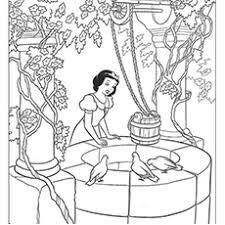 Snow White At The Well Dwarf Feeling Sleepy Coloring Pages