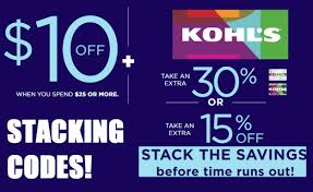Kohl's Stacking Coupon Codes: Get $25 Orders For Only $10.50 ...