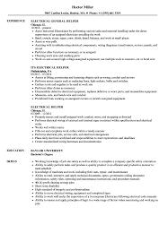 Download Electrical Helper Resume Sample As Image File
