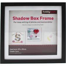Black Shadow Box Frame 25cm X 25cm
