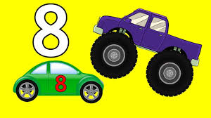Monster Trucks Teaching Children Numbers And Crushing Cars Watch Our ...