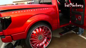Candy Red Ford F-150 Truck On 32