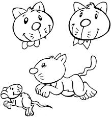 coloriage comptine trois chats sur le tapis coloriage comptine